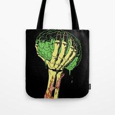 Zombie Skeleton Brain Vintage Tote Bag