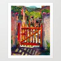 Red Gate Art Print