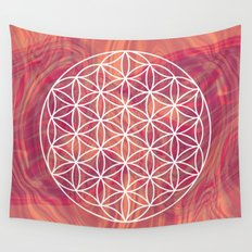 Life Flower Wall Tapestry