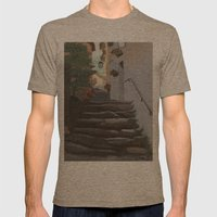 Italian Street And Stair… Mens Fitted Tee Tri-Coffee SMALL