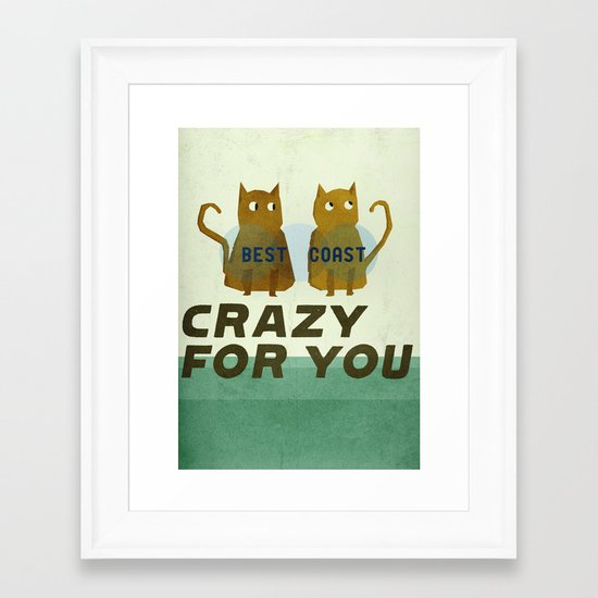 Best Coast Framed Art Print