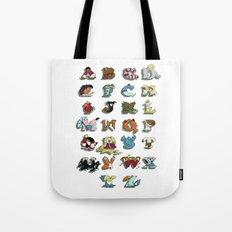 The Disney Alphabet - White Background Tote Bag