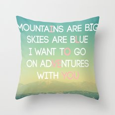 Adventures and I Love You (MODERN) Throw Pillow