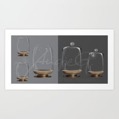 Glass ball jar - High resolution PSD Files for Manipulators Art Print