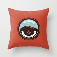 Go Camping Throw Pillow