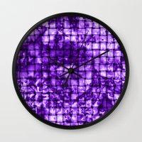 Purple Satin Weave Effect Wall Clock