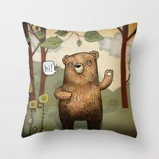 The Little Bear Throw Pillow