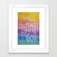 Oh The Places You'll Go … Framed Art Print