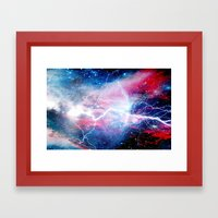 Starred Lightning Framed Art Print
