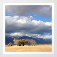 Baker City Barn Art Print