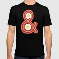 Bacon & Eggs Mens Fitted Tee Black SMALL