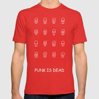 Punk Is Dead Mens Fitted Tee Red SMALL