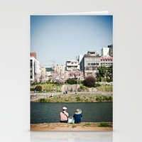 By The Kamogawa In Sprin… Stationery Cards