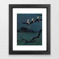 VULTURES Framed Art Print