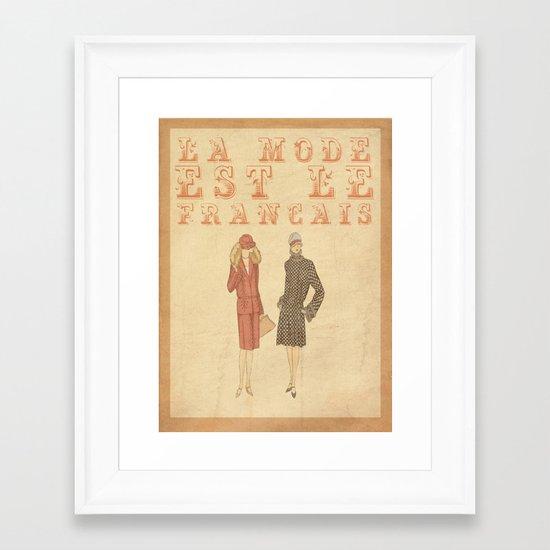 French Fashion Framed Art Print