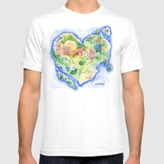 Island of Love White SMALL Mens Fitted Tee