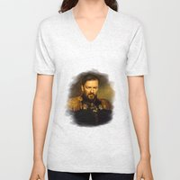 Ricky Gervais - replaceface Unisex V-Neck