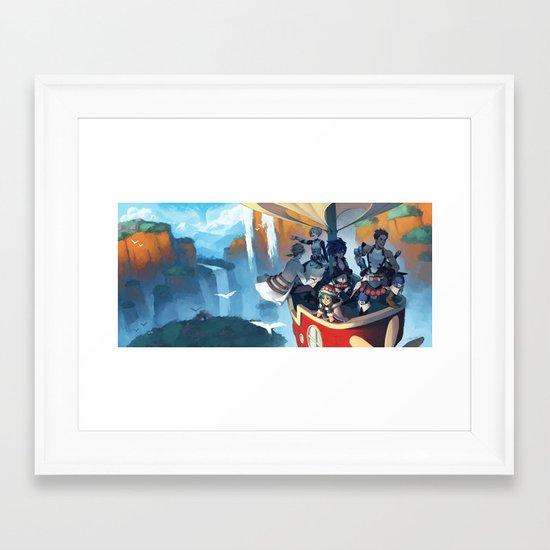 Above the Scarlet Pillars Framed Art Print