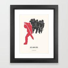RED MANIFESTO Framed Art Print