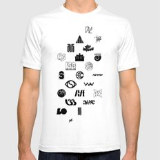 Logo White SMALL Mens Fitted Tee