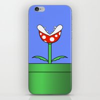 Minimalist Piranha Plant iPhone & iPod Skin