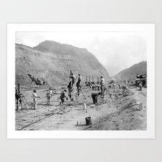 Panama Canal construction Art Print