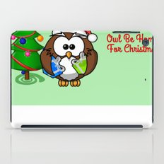 Owl Be Home for Christmas iPad Case