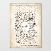 Attenborough & His Anima… Canvas Print