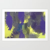 Blues And Yellows Art Print