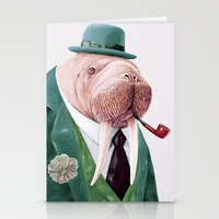 Walrus Green Stationery Cards