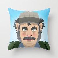Jaws Quint Throw Pillow