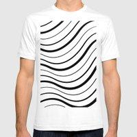 FlagWaving01 Black Strip… Mens Fitted Tee White SMALL