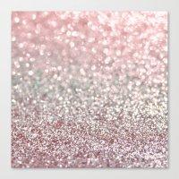 Girly Pink Snowfall Canvas Print