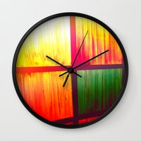 Stain Glass Wall Clock