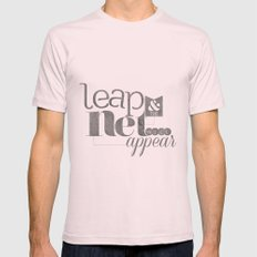 leap & the net will appear Mens Fitted Tee Light Pink SMALL
