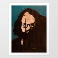 Who stood before you speechless — Allen Ginsberg Art Print