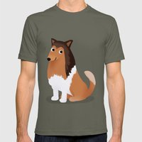 Collie - Cute Dog Series Mens Fitted Tee Lieutenant SMALL