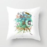 Follow Me To Neverland Throw Pillow