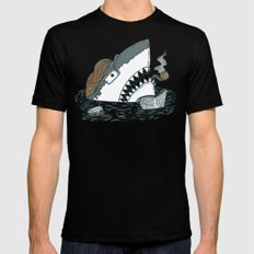 The Dad Shark Black Mens Fitted Tee SMALL