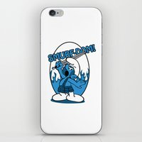 Brave Smurf iPhone & iPod Skin