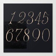 Numbers-Clock Canvas Print