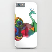 iPhone & iPod Case featuring colorful peacocks by Hande Unver