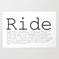 Ride To... Art Print