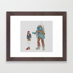 They Met Framed Art Print