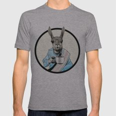Java Llama Mens Fitted Tee Athletic Grey SMALL