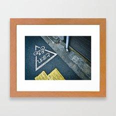 Cycle Street Japan  Framed Art Print