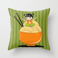 Noodle..noodle.. Noodle!… Throw Pillow