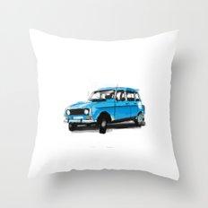 Renault 4L Throw Pillow