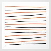 Halloween Orange Black H… Art Print