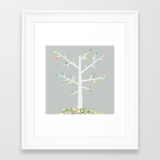Graphic Tree  Framed Art Print
